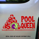 POOL QUEEN Billiards Vinyl Decal Sticker