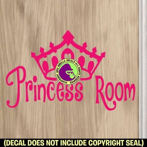 PRINCESS ROOM Tiara Vinyl Decal Sticker