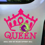 QUEEN CROWN Vinyl Decal Sticker