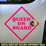 QUEEN ON BOARD Vinyl Decal Sticker