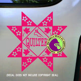 QUILTER Quilting Vinyl Decal Sticker
