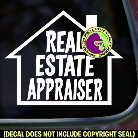 REAL ESTATE APPRAISER Vinyl Decal Sticker