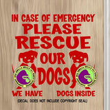 PLEASE RESCUE OUR DOGS Vinyl Decal Sticker