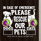 PLEASE RESCUE OUR PETS Vinyl Decal Sticker