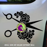 Hair - ROSES Shears Vinyl Decal Sticker