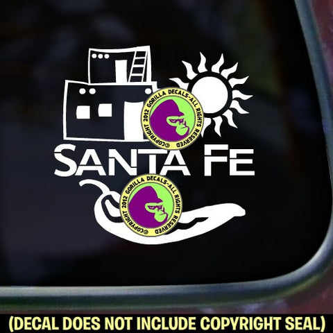 New Mexico State - SANTA FE Vinyl Decal Sticker