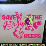 SAVE THE REEFS Vinyl Decal Sticker