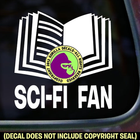 SCI-FI FAN Vinyl Decal Sticker