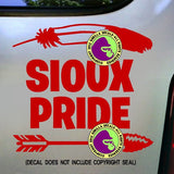 Tribe - SIOUX PRIDE Native American Vinyl Decal Sticker