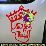 SKULL with CROWN Vinyl Decal Sticker