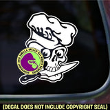 SKULL CHEF KNIFE Vinyl Decal Sticker