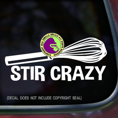 STIR CRAZY Whisk Vinyl Decal Sticker