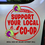 SUPPORT YOUR LOCAL CO-OP Vinyl Decal Sticker