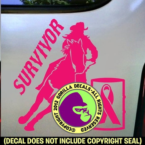 BREAST CANCER Barrel Racer Vinyl Decal Sticker