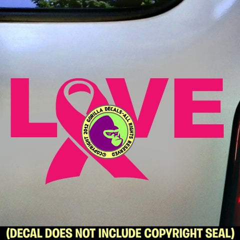 BREAST CANCER LOVE Survivor Vinyl Decal Sticker