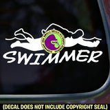 SWIMMER Swimming Vinyl Decal Sticker