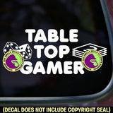 TABLETOP GAMER Vinyl Decal Sticker