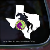 STATE TEXAS Hunter Jumper Vinyl Decal Sticker