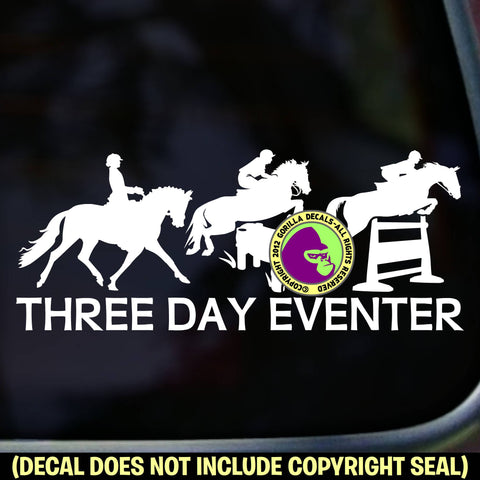 3 DAY EVENTER Vinyl Decal Sticker