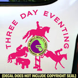 3 DAY EVENTING Vinyl Decal Sticker
