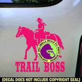 TRAIL BOSS Western Rider Vinyl Decal Sticker
