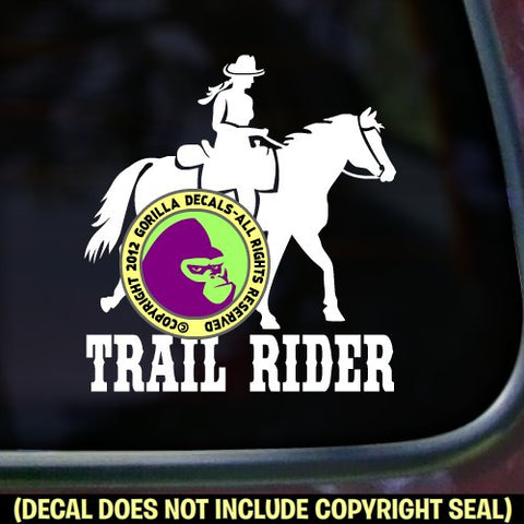 TRAIL RIDER Horse Rider Vinyl Decal Sticker