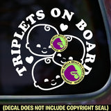 Triplets on Board Vinyl Decal Sticker