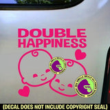 DOUBLE HAPPINESS Twins Vinyl Decal Sticker