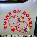 Twins on Board Vinyl Decal Sticker