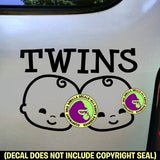 TWINS Sign Vinyl Decal Sticker