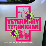 VETERINARY TECHNICIAN Vinyl Decal Sticker