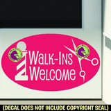 BIG BARBER WALK-INS WELCOME ROUND Vinyl Decal Sticker