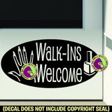 Nails - BIG NAIL SALON WALK-INS WELCOME ROUND Vinyl Decal Sticker