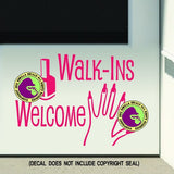NAILS - WALK-INS WELCOME Vinyl Decal Sticker