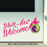 TATTOO WALK-INS WELCOME Vinyl Decal Sticker