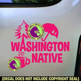 Washington State - NATIVE Vinyl Decal Sticker