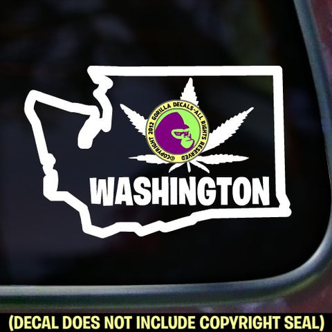 WASHINGTON STATE MARIJUANA Vinyl Decal Sticker