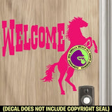 WELCOME REARING HORSE Vinyl Decal Sticker