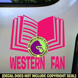WESTERN FAN Vinyl Decal Sticker