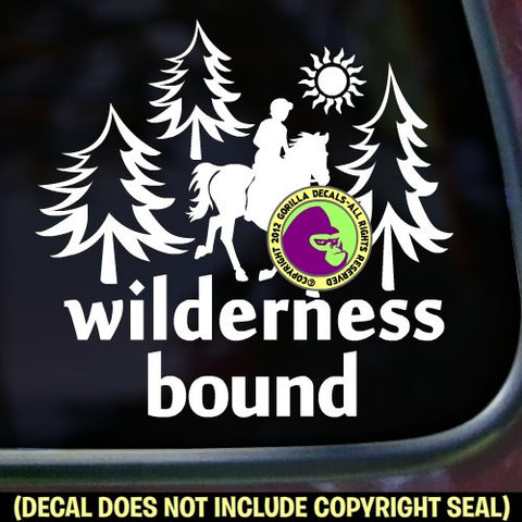 WILDERNESS BOUND HORSE RIDER Vinyl Decal Sticker