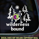 WILDERNESS BOUND Ultra Marathon Runner Vinyl Decal Sticker