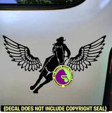 WINGS Barrel Racing Vinyl Decal Sticker