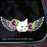 CAT WITH WINGS Vinyl Decal Sticker
