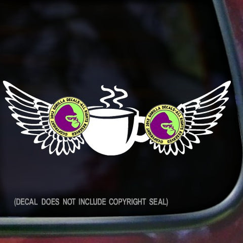 Coffee - WINGS Vinyl Decal Sticker