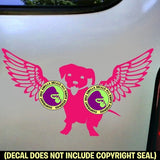 DOG WITH WINGS Vinyl Decal Sticker