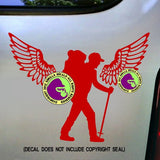 HIKER WITH WINGS Vinyl Decal Sticker
