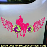 WINGS Horse Rider Trail Vinyl Decal Sticker