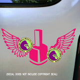 Manicurist - NAIL POLISH WITH WINGS Vinyl Decal Sticker