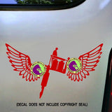 WINGS TATTOO Vinyl Decal Sticker