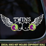 WINGS TWINS Vinyl Decal Sticker